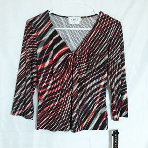 A. Byer Stretch Top, Womens Blouse Shirt Size XL